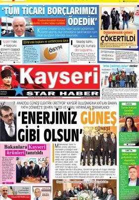 Kayseri Star Haber - 24.02.2020 Manşeti