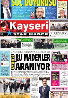Kayseri Star Haber - 24.01.2020 Manşeti
