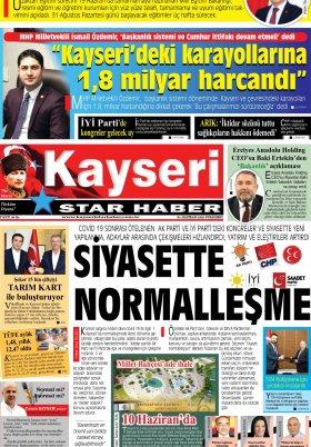 Kayseri Star Haber - 04.06.2020 Manşeti